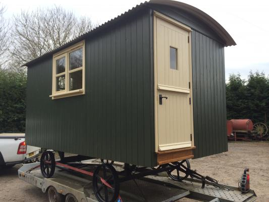 Dark green hut delivered today to chipping norton
